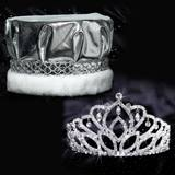 Mirabella Tiara and Silver Metallic Crown Set