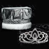 Sasha Tiara and Silver Metallic Crown Set