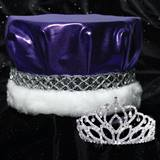 Mirabella Tiara and Metallic Crown Set