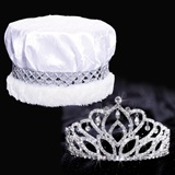 Mirabella Tiara and Crushed Satin Crown Set