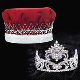 Penelope Tiara and Red Velvet Crown Set