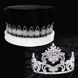 Penelope Tiara and Black Velvet Crown Set