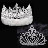 Celia Tiara and Silver Fleur-de-Lis Crown Set