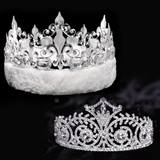 Elsa Tiara and Silver Fleur-de-Lis Crown Set