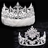 Penelope Tiara and Silver Fleur-de-Lis Crown Set