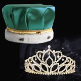 Gold Mirabella Tiara and Satin Crown Set