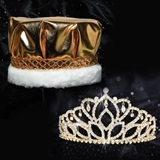 Gold Mirabella Tiara and Metallic Crown Set