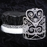 Rose Marie Grand Tiara and Crushed Satin Crown Set
