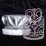Pink Charlotte Grand Tiara and Metallic Crown Set