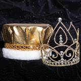 Gold Lexie Grand Tiara and Metallic Crown Set