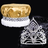 Amelia Tiara and Crushed Satin Crown Set
