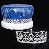 Katelyn Tiara and Crushed Satin Crown Set