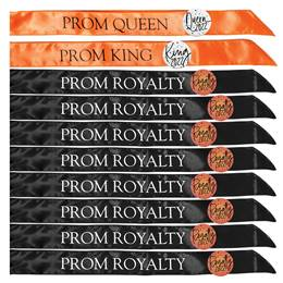 Prom King, Queen, & Royalty Sash Set with Buttons