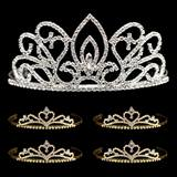 Tiara Set - Adele Queen Tiara and Gold Alisa Court Tiaras