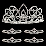 Tiara Set - Adele Queen Tiara and Cleo Court Tiaras