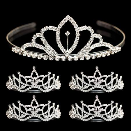 Tiara Set - Chelsey Queen Tiara and Amara Court Tiaras
