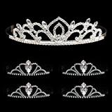 Tiara Set - Kiley Queen Tiara and Black Vicky Court Tiaras