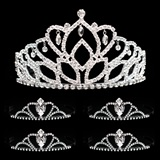 Tiara Set - Mirabella Queen Tiara and Black Vicky Court Tiaras