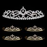 Tiara Set - Ruby Queen Tiara and Gold Alisa Court Tiaras
