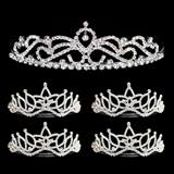 Tiara Set - Ruby Queen Tiara and Amara Court Tiaras