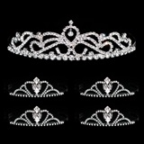 Tiara Set - Ruby Queen Tiara and Black Vicky Court Tiaras