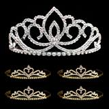 Tiara Set - Sasha Queen Tiara and Gold Alisa Court Tiaras