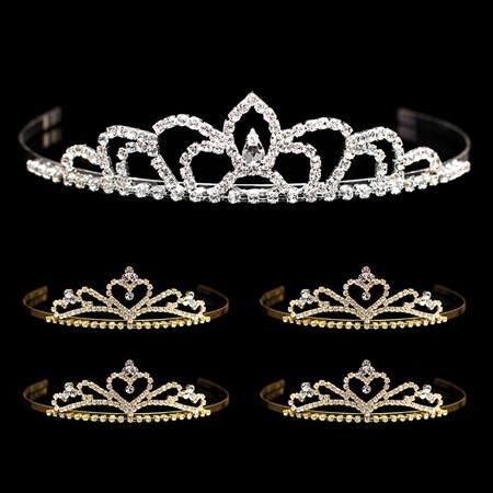 Tiara Set - Sissy Queen Tiara and Gold Alisa Court Tiaras