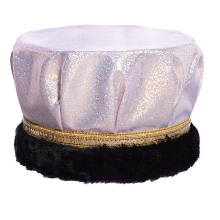 White/Silver Glitter Dusk Crown - Black Fur