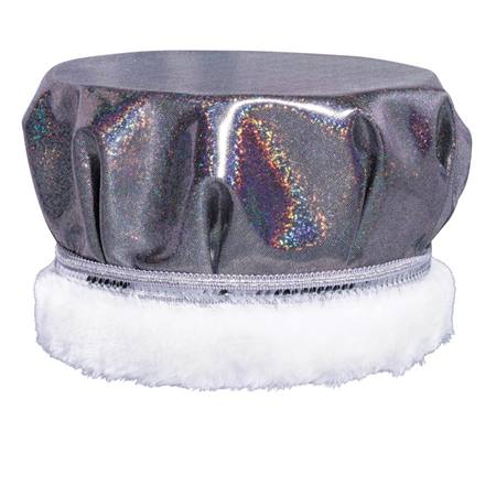 Black/Silver Glitter Dusk Crown - Spotted White Fur