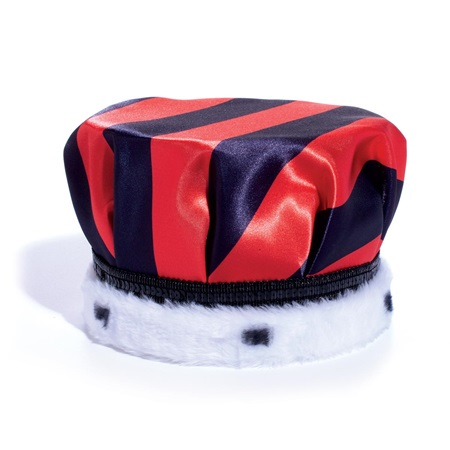 Red and Black Stripes Full-color Crown