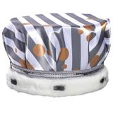 Diagonal Black and White Stripes Full-color Crown