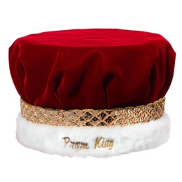 Embroidered King Crown with Gold