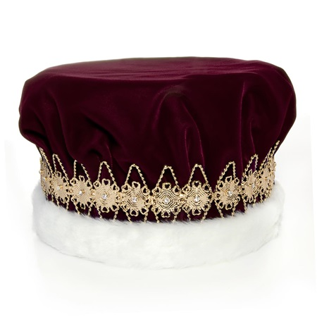Regal Burgundy Crown with Gold Band