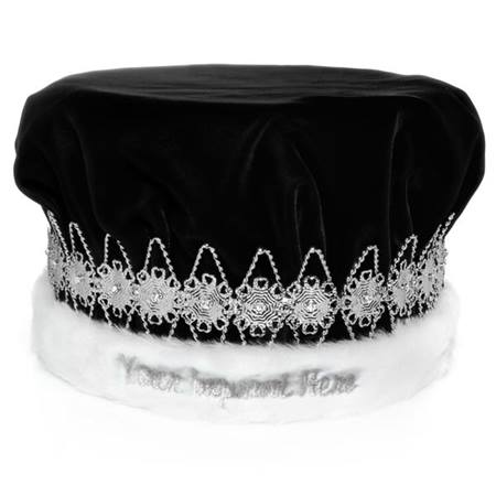 Regal Crown with Silver Floral Band - Custom Embroidered