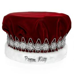 Silver Embroidered Regal Prom King Crown