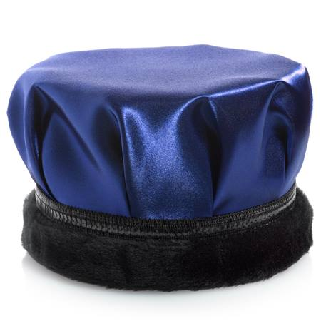 Satin Crown - Black Band With Black Fur