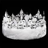 Silver Fleur-de-lis Crown With White Trim