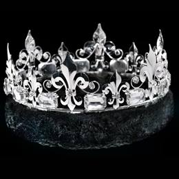 Silver Fleur-de-lis Crown With Black Trim
