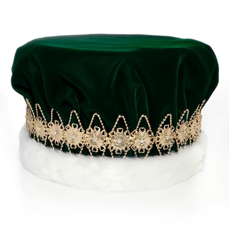 Majestic Green King Crown with Gold Band