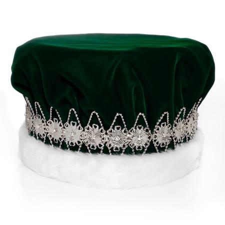 Majestic Green King Crown with Silver Band