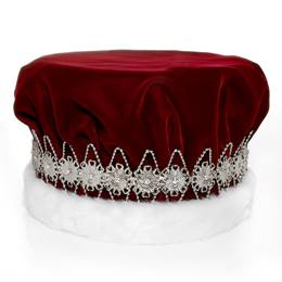 Majestic Red King Crown with Silver Band