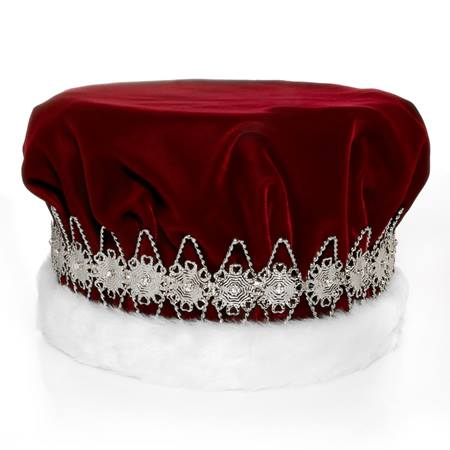 majestic red king crown with silver band prom nite