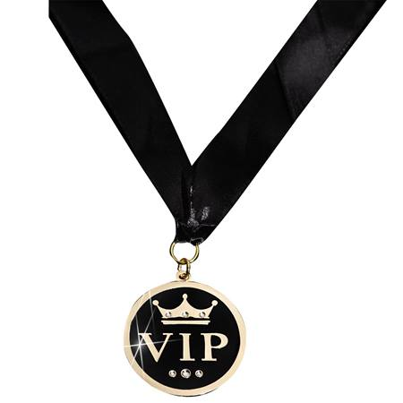 Gold VIP Medallion With Ribbon and Case