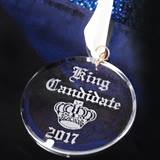 Etched Acrylic King Candidate Medallion