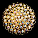 Sash Pin - Gold Floral Iridescence