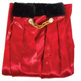 Red Coronation Robe with Black Collar