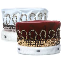 Velvet Crown with Sequin Band