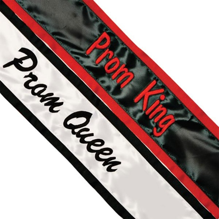 Custom Color Edge Royalty Sash – One Color