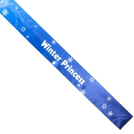 Snowflake Swirl Full-color Sash