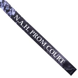 Silver Bubbles Full-color Sash